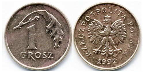 1 грош 1992 Польша