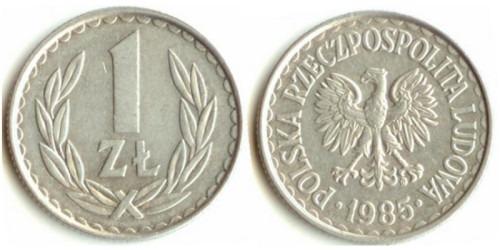 1 злотый 1985 Польша