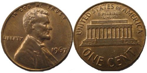 1 цент 1967 США