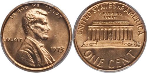 1 цент 1973 США