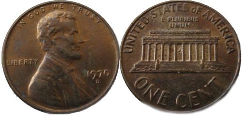 1 цент 1970 D США