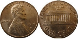1 цент 1974 D США