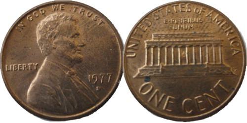 1 цент 1977 D США