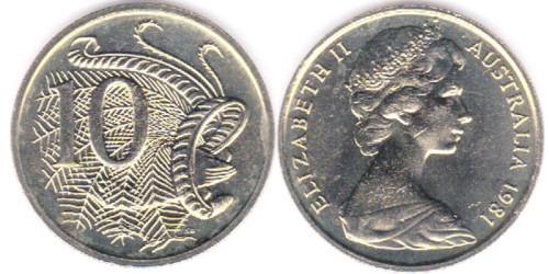 10 центов 1981 Австралия