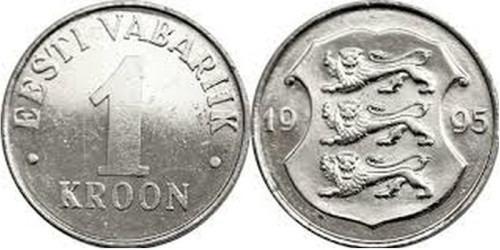 1 крона 1995 Эстония