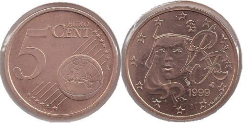 5 евроцентов 1999 Франция