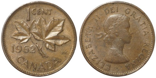 1 цент 1962 Канада