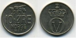 10 эре 1971 Норвегия