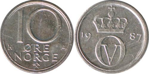 10 эре 1987 Норвегия