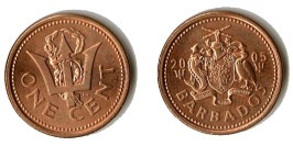 1 цент 2005 Барбадос UNC