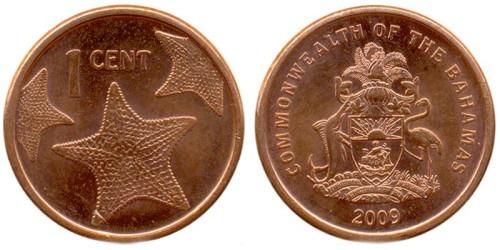 1 цент 2009 Багамские Острова UNC