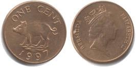 1 цент 1997 Бермуды
