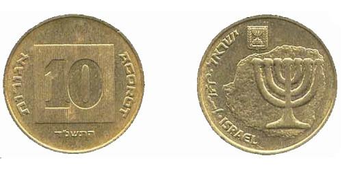 Израиль монета 10 агорот цена шедевры древнерусской культуры марки цена