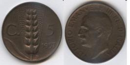 5 чентезимо 1937 Италия