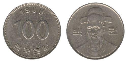 100 вон 1988 Южная Корея