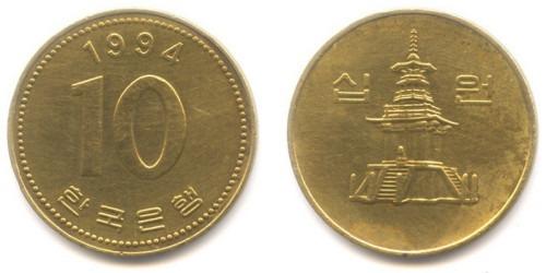 10 вон 1994 Южная Корея