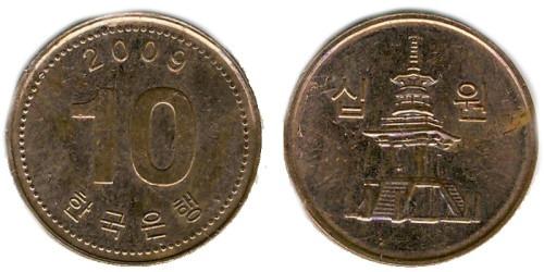 10 вон 2009 Южная Корея