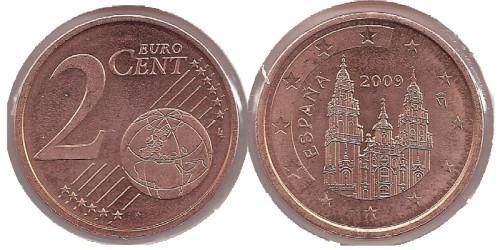 2 евроцента 2009 Испания