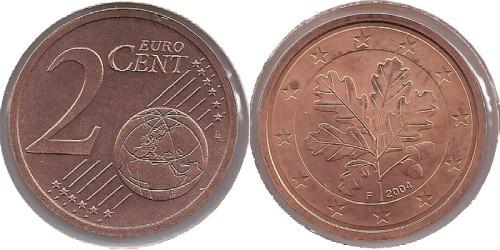 2 евроцента 2004 «F» Германия