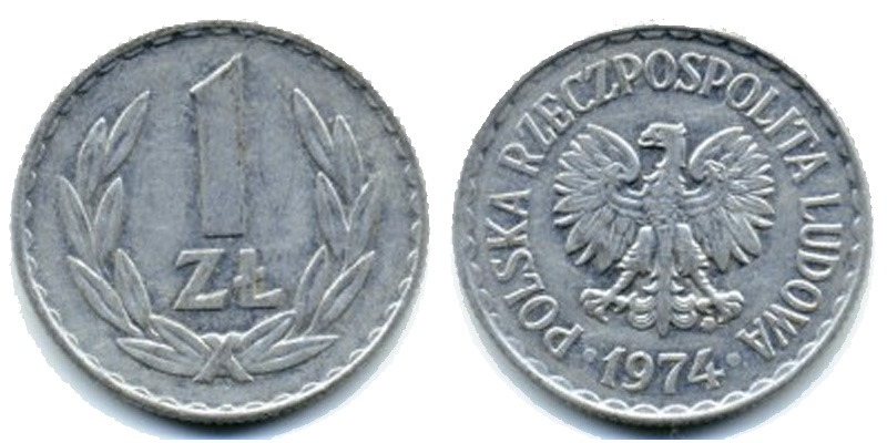 Польские монеты 1975 1 злотый цена продать деньги ссср в украине