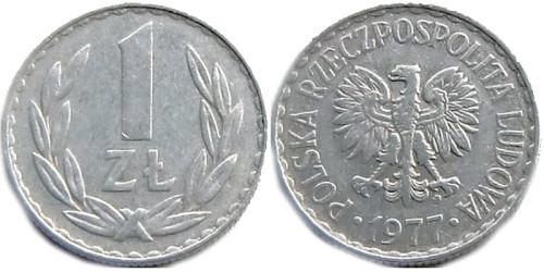 1 злотый 1977 Польша