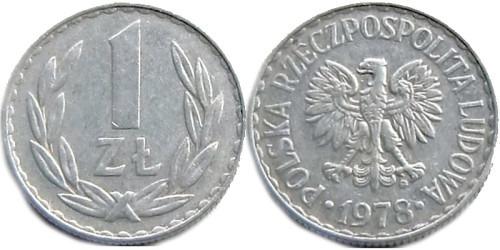 1 злотый 1978 Польша — знак монетного двора