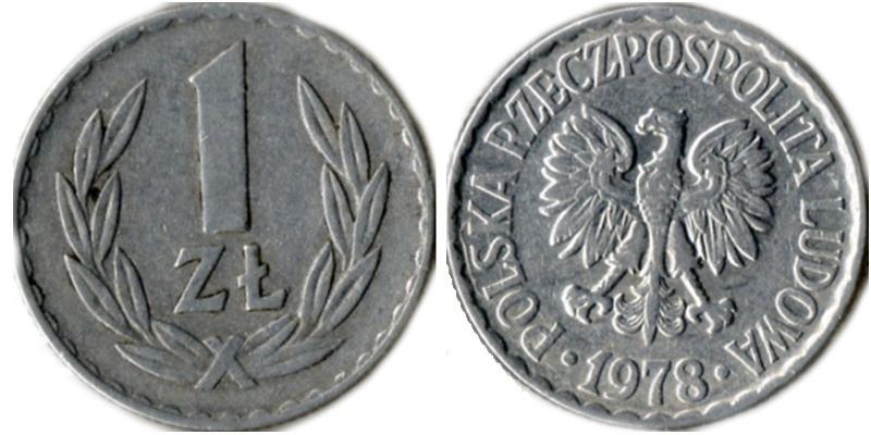 1 злотый 1978 купюра 25 рублей