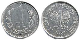1 злотый 1982 Польша