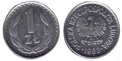 1 злотый 1983 Польша