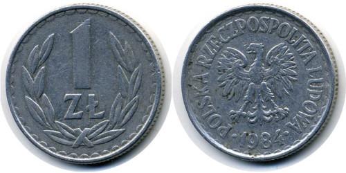 1 злотый 1984 Польша