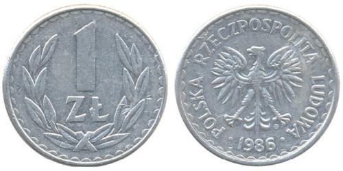 1 злотый 1986 Польша