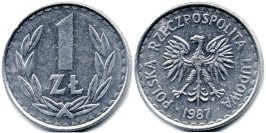 1 злотый 1987 Польша