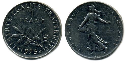 1 франк 1975 Франция