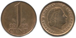 1 цент 1968 Нидерланды