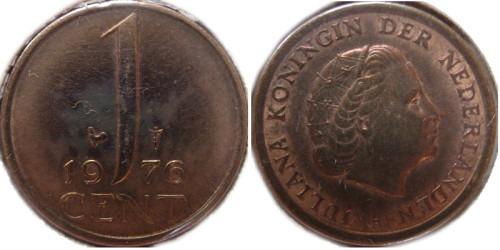 1 цент 1976 Нидерланды