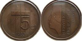 5 центов 1983 Нидерланды