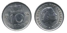 10 центов 1964 Нидерланды