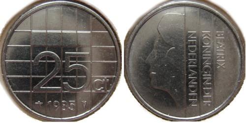 25 центов 1985 Нидерланды