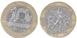 10 франков 1992 Франция