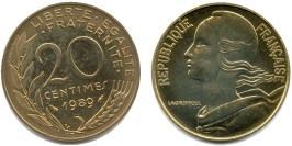 20 сантимов 1989 Франция