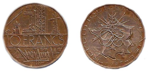 10 франков 1987 Франция