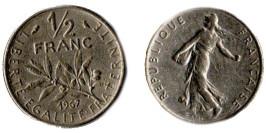 1/2 франка 1967 Франция