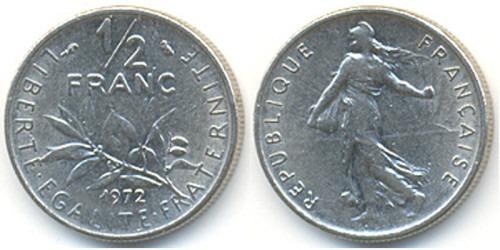 1/2 франка 1972 Франция