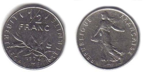 1/2 франка 1976 Франция