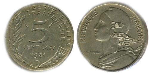 5 сантимов 1981 Франция