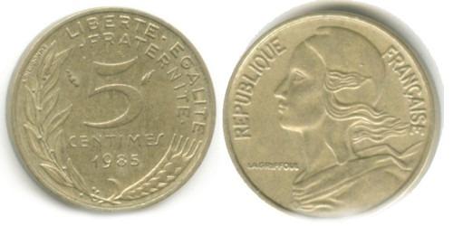 5 сантимов 1985 Франция