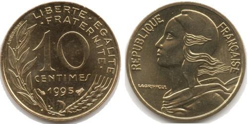 10 сантимов 1995 Франция