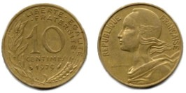 10 сантимов 1979 Франция