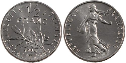 1/2 франка 1984 Франция
