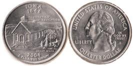 25 центов 2004 D США — Айова — Iowa UNC